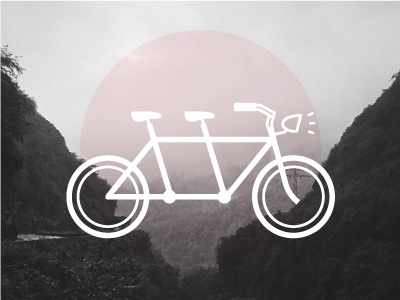 Built for two tandem bike cycle icon
