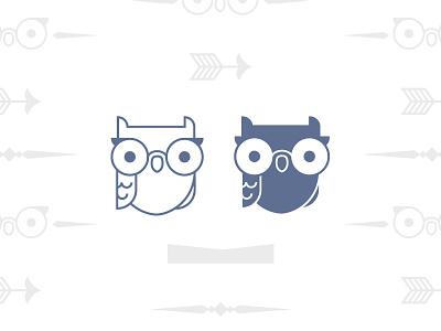 Owl logo mark optometry owl glasses