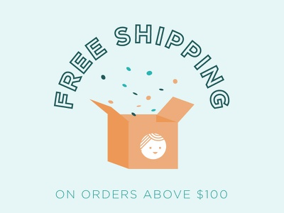 Ship it free box confetti shipping