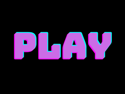 Play typography text play