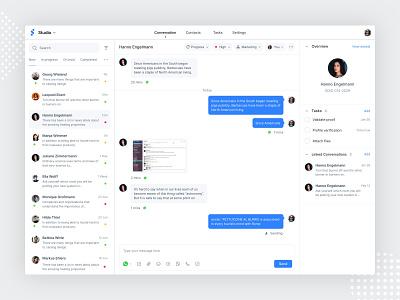 Omni-channel | Conversation messagebird messager chennel whatsapp conversation ticket produt chat app chat message omnichannel omni product ui  ux ux ui design