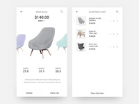 Chair Shopping App - Product & Checkout