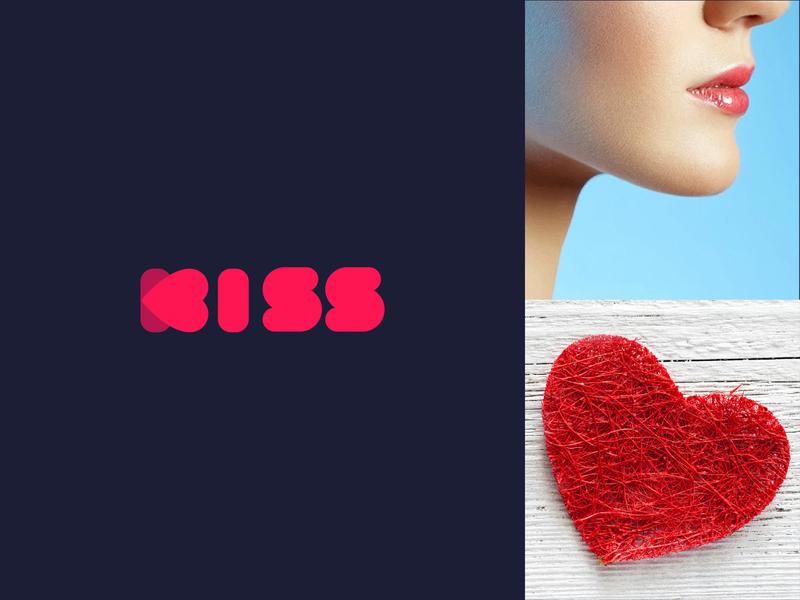 Kiss Logo | experiment design rajan srinivasan unused concept wordmark typography creative heart logo kisses kissing lip heart kiss