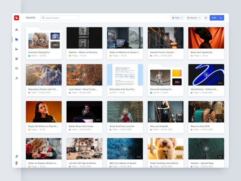 Kloud Learn | File Manager timeless rajan srinivasan ux ui product video documents folder upload file manager files