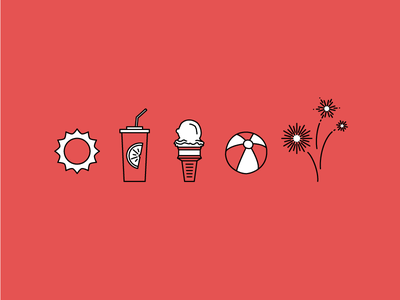 Flipboard Summer Icons flipboard vector illustration icons