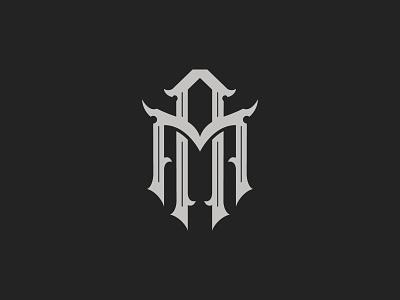 Monogram AM lettermark type letter vector t shirt gothic typography monogram logotype logo lettering design branding brand