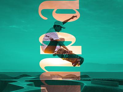 Due tone effect creative design typography image manipulation duetone