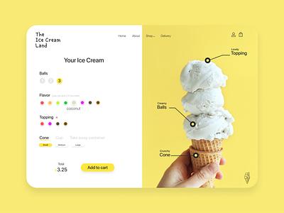 Customize Product - #DailyUI033 customize product customize uiux app icecream ui