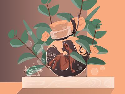 Locked isometric art minimalist flat design creative character design vector illustration