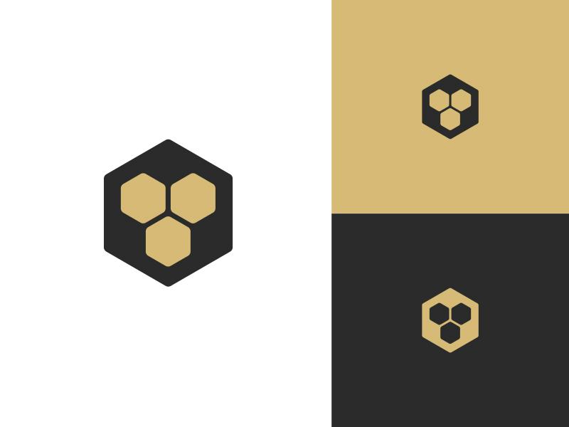 LionsMouth Digital  branding logo mark gold lion icon