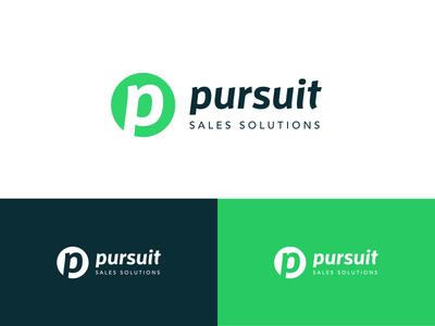 Pursuit Branding sales logo brand mark pursuit font type