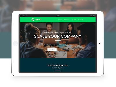 Pursuit Sales Solutions - Website Design sales logo brand mark pursuit font type