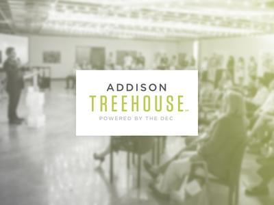 Addison Treehouse - Branding coworking startup logo text type treehouse texas
