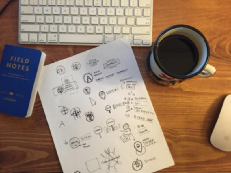 Sketch'n - Addison Treehouse sketch wip field notes coffee mac pen type