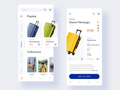 Bags Shop - App Concept minimalistic web app mobile app mobile ui adobe xd figma ux ui design travel app ui  ux mobile ecommerce app