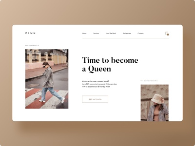 Fashion Stylist Site - Concept webdesign web sketch ux fashion design stylist fashion ui minimalistic figma design adobe xd