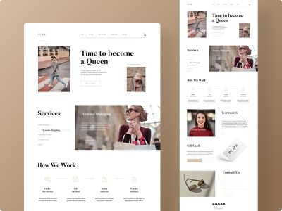 Fashion Stylist Site - Concept website webdesign adobe photoshop shopping photoshop branding stylist fashion design fashion ui web ux minimalistic design figma adobe xd