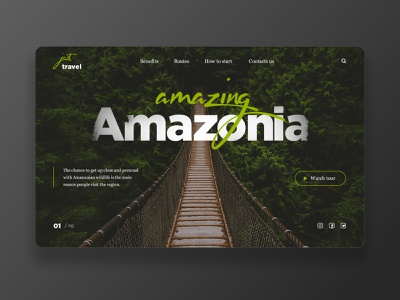 Travel Site - Concept travel nature minimalism landing green adventure web ux ui minimalistic figma design adobe xd adobe photoshop