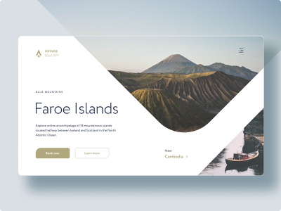 Remote Tourism - Concept green white travel adobe photoshop design web ux ui minimalistic figma adobe xd