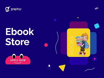 Kid's Ebook Store uidesign uix best shot firstshot dribbble kids fun ebooks webdesign dashboard ui ux vector ui illustration graphyy design 3d illustration 3d artist 3d art 3d