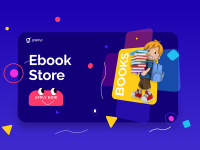 Ebook Store dashboard ui dashboad webdesign webapp web illustration 3d artist branding 3d illustration ux ui