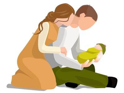 Семья радость вместе люди рисунок иллюстрация вектор счастье пара папа мама малыш грудной ребенок ребенок любовь семья
