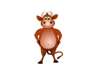 Бык актуально бренд иллюстрация арт вектор мультгерой животное праздник годбыка новый год бык