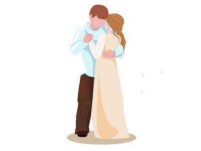 Влюбленная пара семья праздник счастье свадьба жена муж парень девушка платье встреча вместенавсегда вместе женщина мужчина пара любовь