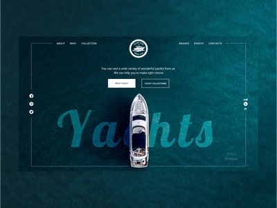 Yachts Rent typography traveling ocean sea yachting yacht inspiration design ui  ux ui