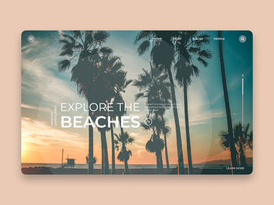 Explore Beaches UI Design