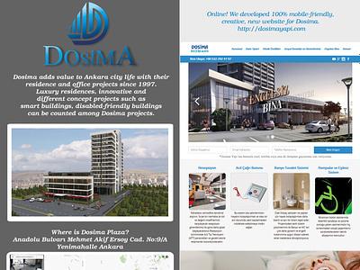 Dosima Project designer project digital branding digital brand social media building real estate webdesign responsive design responsive website responsive property realestate web branding design website design website webflow