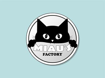 Miau s Factory cat logodesigns digitaldesign illustrator