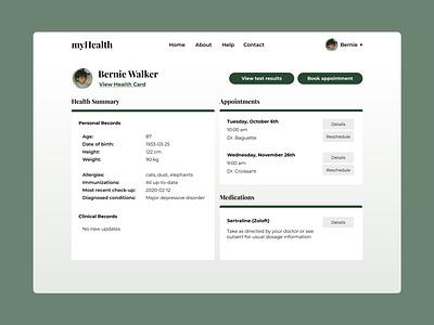 006 User Profile green 006 dailyui profile user