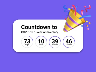 014 Countdown Timer covid-19 timer countdown 014 dailyui