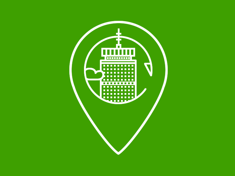 Pru location boston green prudential center building skyscraper lineart