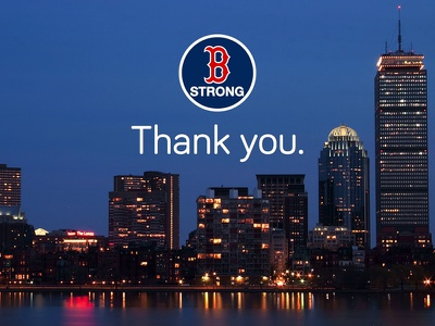 Thank You. boston bostonstrong city skyline bariol
