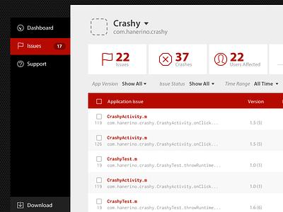 Crashy Crash List table navigation icons myriad pro inconsolata