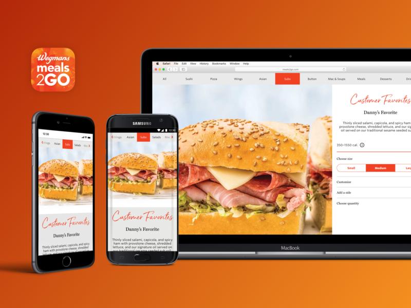 Wegmans Meals 2GO App product design app responsive serendipity miller web app android ios design