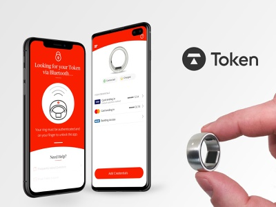 Token Mobile App sanomat sans publico prototype ring hardware android ios product design design