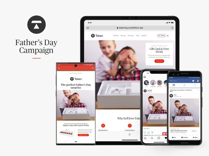Token Father's Day Campaign mobile website campaign product design instagram facebook ads