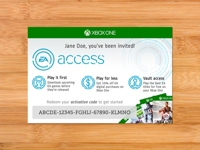 EA Access Card xbox bamboo museo slab ropa sans