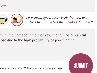 Captcha Illustrations illustration captcha form submit button monkey