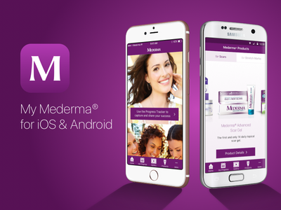 My Mederma App for iOS & Android product design iphone app android ios