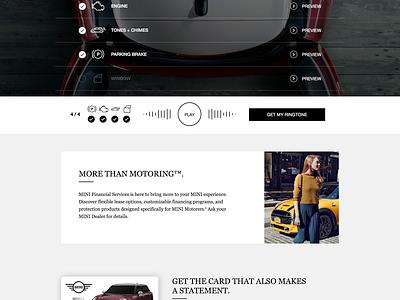 MINI FS Ringtones Website animation website mini cars