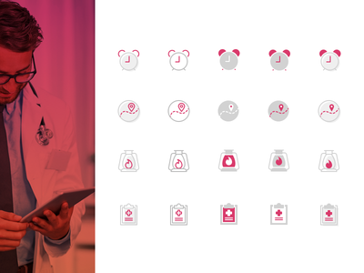 Icons for Health Care App healthcare icons
