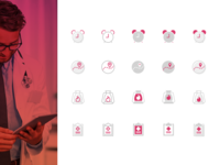 Icons for Health Care App