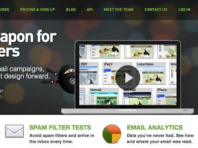 Be An Email Ninja litmus video ninja icons navigation