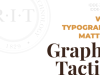 Graphic tactics why typography matters