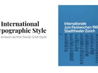 Graphic tactics slide typographic style