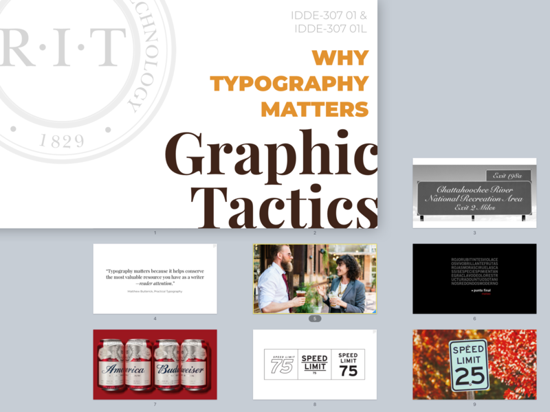 Graphic Tactics Class Slides typography montserrat playfair display presentation